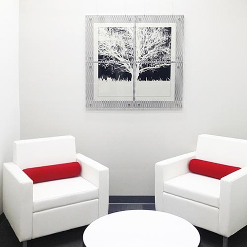 Architek Modular Perforated Aluminum Picture Frames and Display Systems