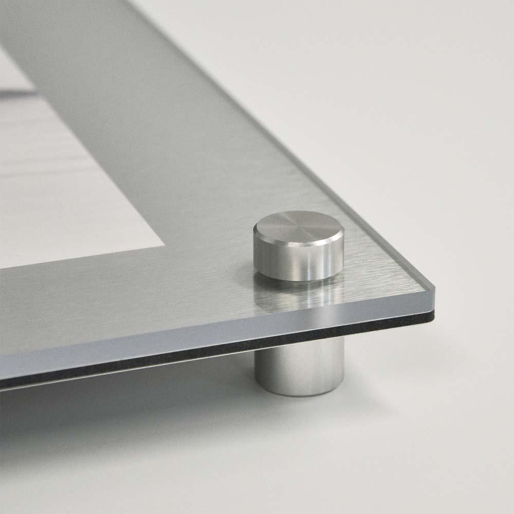 Futura Brushed Metal Diploma/Award Display - Aluma Designs