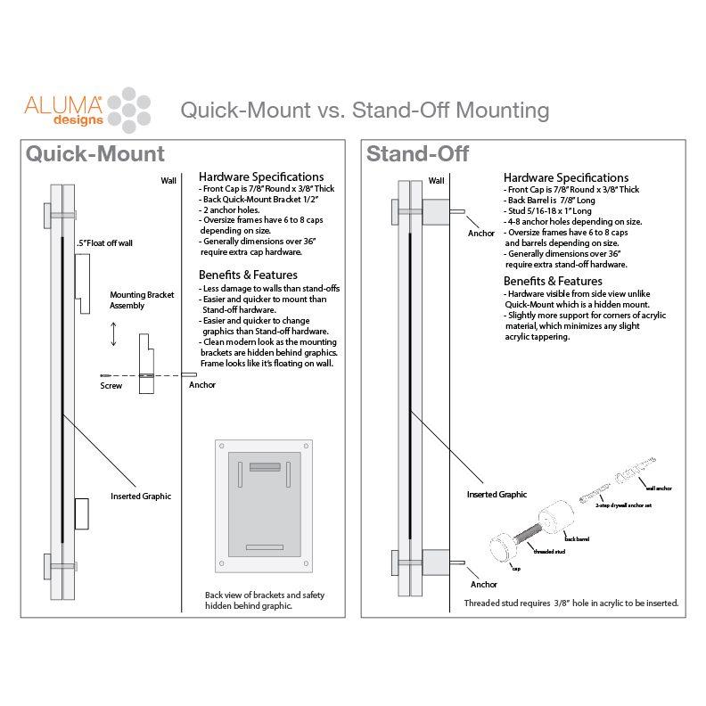 VETRO Modern Acrylic Wall Frames, Picture Frames I Aluma Designs