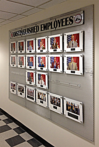 Army Distinguished Employee Wall