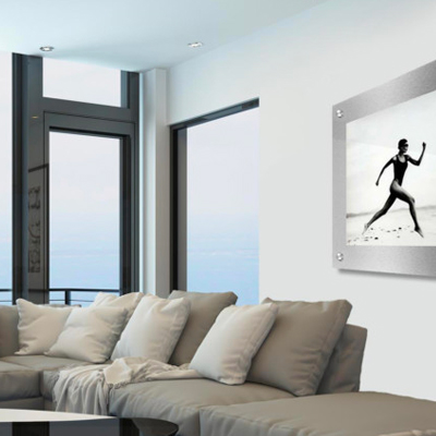 Futura Modern Brushed Metal And Acrylic Pictures Frames