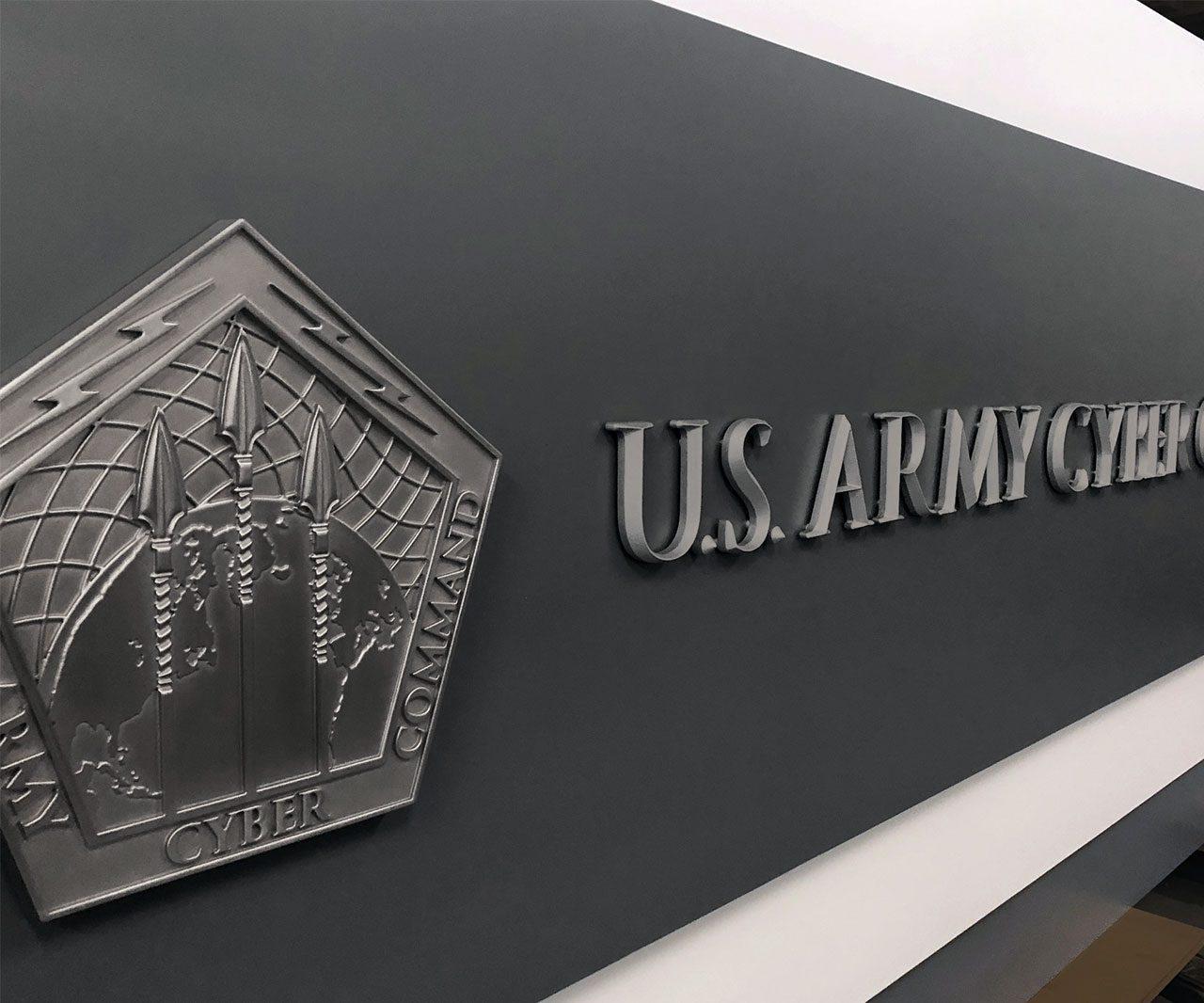 US Government Bespoke Interior Signage