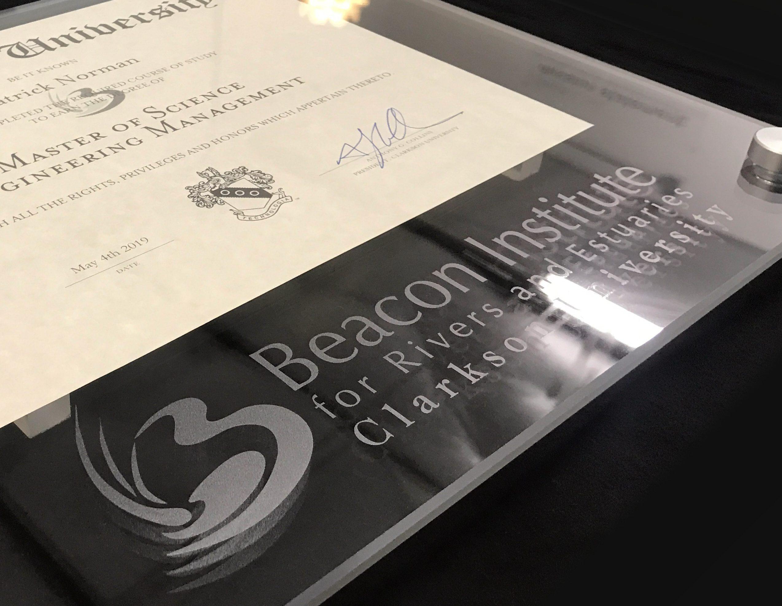 Diploma Frame with Printed Logo